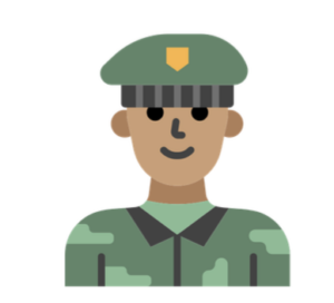 Military man illustration
