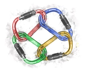 Carabiners in a closed circle